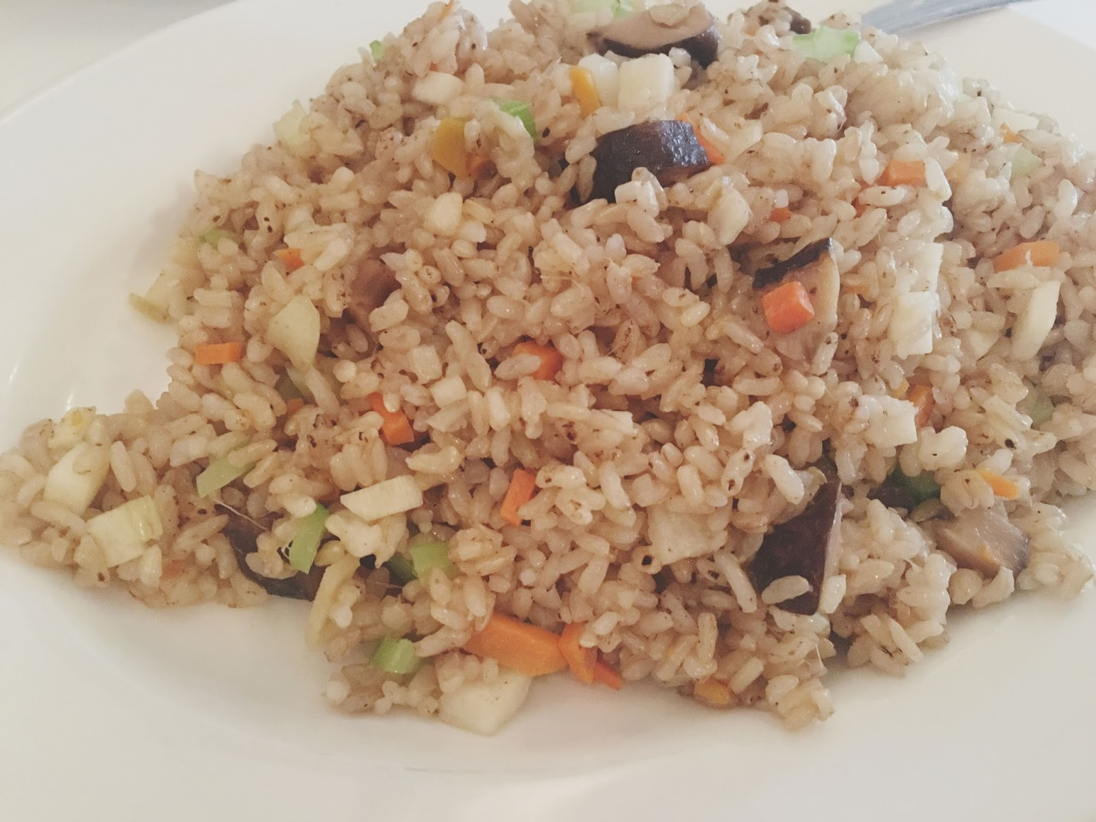 herbivore fried rice at Ginger & Fork - an upscale Chinese restaurant in Houston, Texas