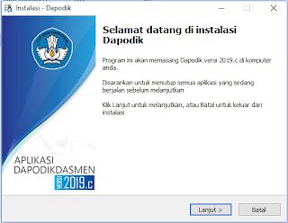 Cara install dapodik versi terbaru 2019.c