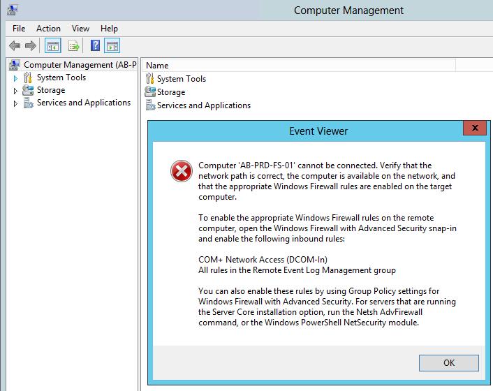 Clint Boessen's Blog: Remote COM+ Network Access to Server 2012 Core