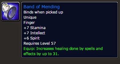 Pre-raid gear (Dungeons, BOEs, Craft) | WoW Vanilla : Healing as a