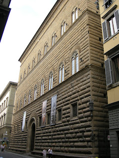 Palazzo Strozzi in Via de' Tornabuoni, the  high fashion centre of Florence