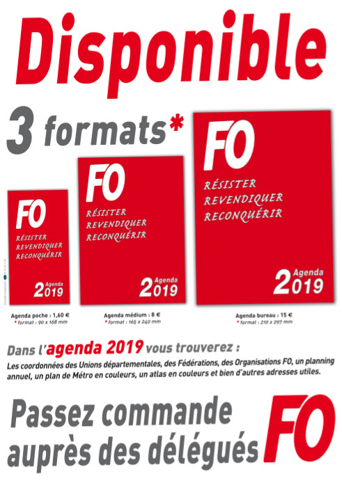 L'AGENDA 2019 EST DISPONIBLE