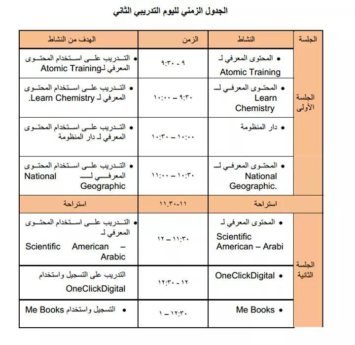 ننشر الجدول الزمني ومحتوى برنامج تدريبات الترقى للمعلمين 2017 - 2018