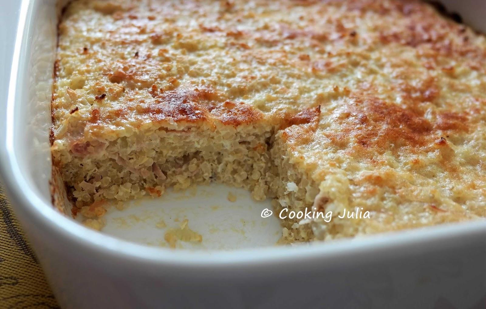 Cooking julia gratin de quinoa au jambon et parmesan for Cuisine quinoa