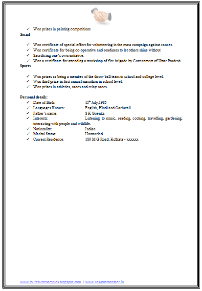 and resume samples with free download mba hr resume format download