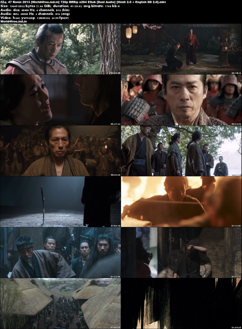 47 Ronin 2013 world4free.ind.in Full Hollywood BRRip 720p Dual Audio Download