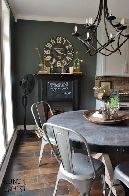 Mixed Metal dining space