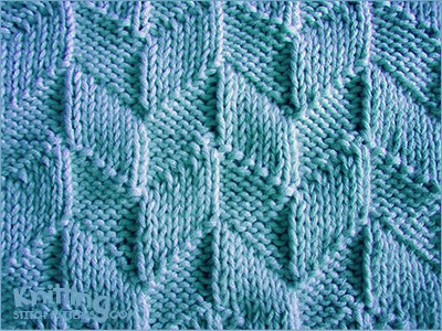 Parallelogram pattern using Knit & Purl combinations