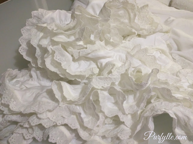 ruffles with eyelet lace edging