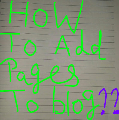 Add pages to blog