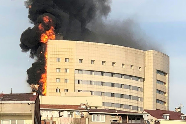 Major fire engulfs Istanbul hospital, patients evacuated