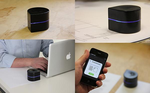 The pocket printer, which is wireless and very portable,