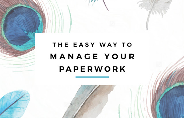 The Easy Way to Manage Your Paperwork - Get those bills and expenses organized, and make tax time a breeze with this simple system! // Eliza Ellis