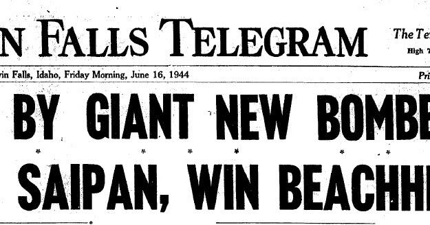 ET's History: June 16, 1944;