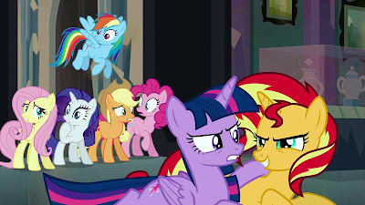 Just before Sunset Shimmer uses the mirror