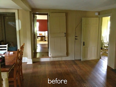 farmhouse dining room before