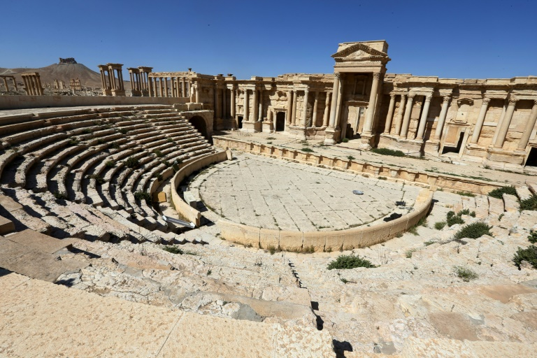 The Roman amphitheatre in the ancient city of Palmyra in Syria, ISIS, pictured on March 31, 2016