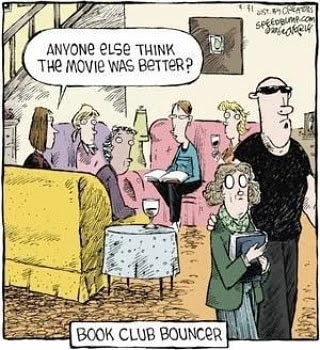 Meme de humor sobre lectura