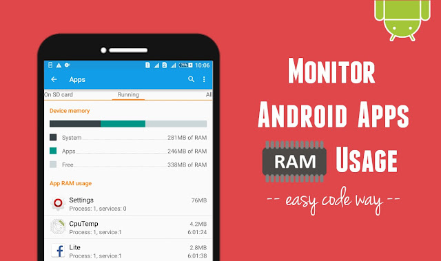 Monitor Android Apps RAM Usage