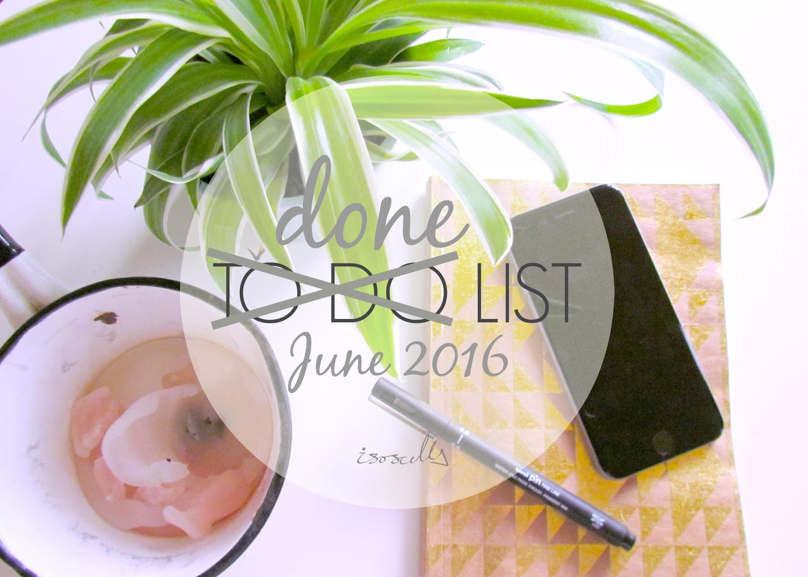 Done List June 2016 by Isoscella