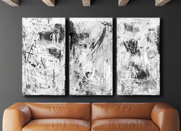 white canvas wall art, canvas wall art, white art, abstract art, modern art, contemporary white art, Sam Freek, buy art, artwork, artist,