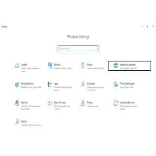 Cara Mengaktifkan Airplane Mode di Windows 10 Melalui Menu Setting