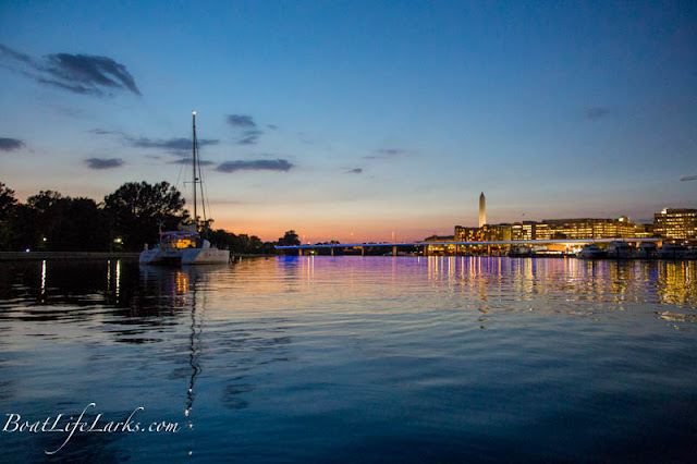 Washington D.C. Sailboat Moorings at night