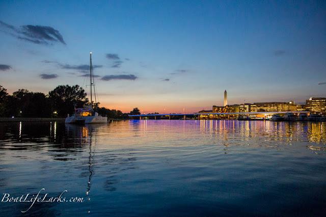 Washington D.C. Sailboat Moorings at night