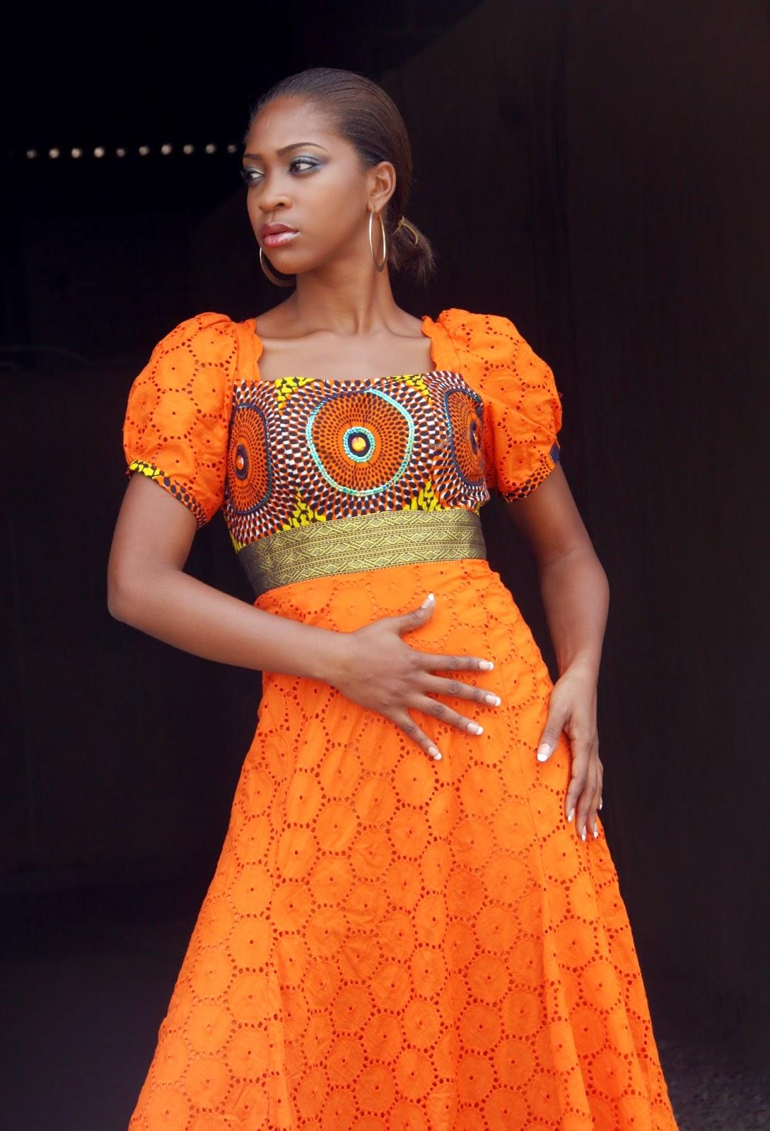 African Clothing:Beautiful Ankara Meet Lace Designs - DeZango