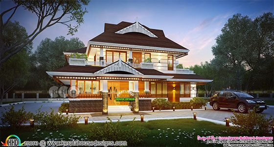1937 square feet Beautiful Kerala home
