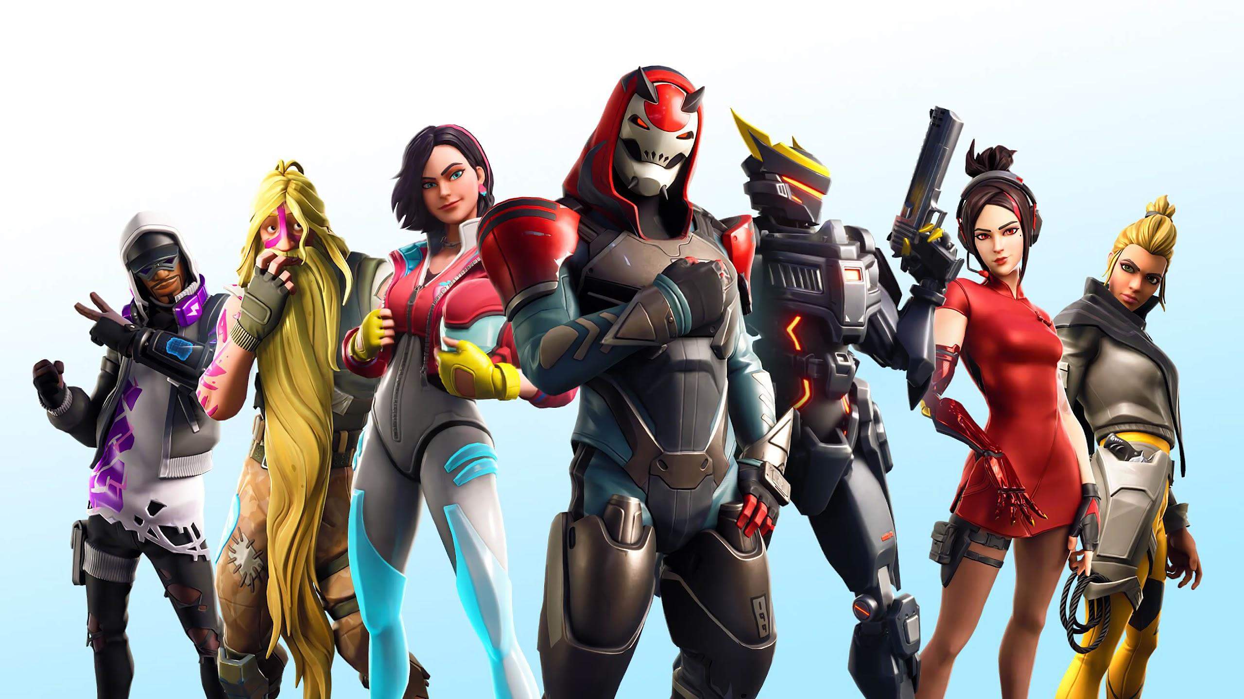 Fortnite Season 9 All Battle Pass Skins Outfits 4k Wallpaper