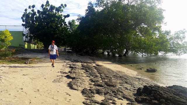 walking at Pacman Beach