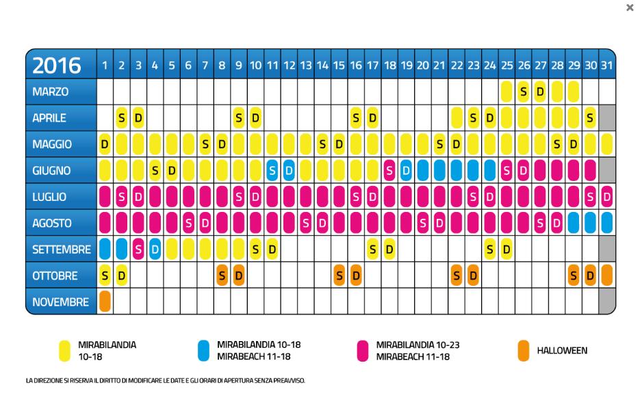 Calendario Mirabilandia.Mirabilandia Sconti Promozioni E Convenzioni