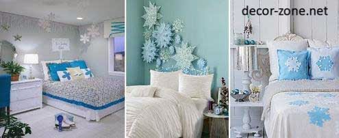 Blue Bedroom Decorating Ideas, Bedroom Wall Decorations, Pillows, Textiles