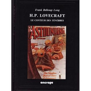 """Couverture de """"HP Lovecraft, le Conteur des Ténèbres"""", de Frank Belknap Long, traduit par Stéphane Bourgoin"""