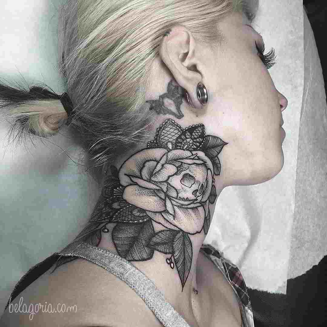 Tatuajes En El Cuello Para Chicas Mejores Ideas Belagoria La