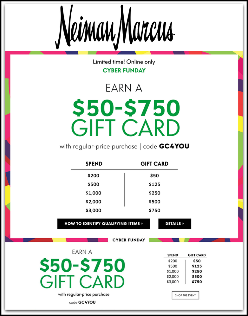 7c1d61aeb86a Today is no ordinary Monday....it's Cyber Monday with the best online sales  you could ever imagine. At Neiman Marcus, it's Cyber Funday where the  savings ...