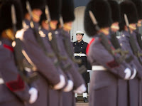 UK ROYAL NAVY PERFORM PALACE GUARD CEREMONY FOR FIRST TIME