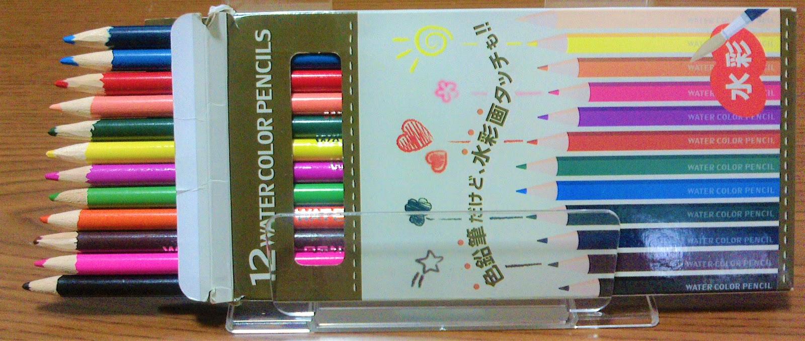Seriaの水彩色鉛筆で色見本&混色の練習   もっと塗りたい!大人の塗り絵ブログ