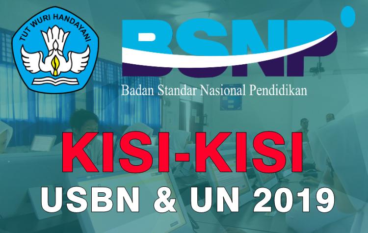 Download Kisi-Kisi USBN SD dan UN SMP/SMA/SMK Tahun 2019