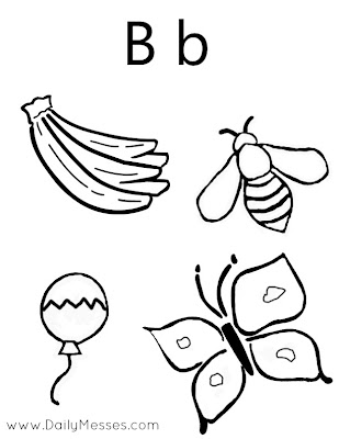 Daily Messes: B is for Bananas, Barbie, and Boat