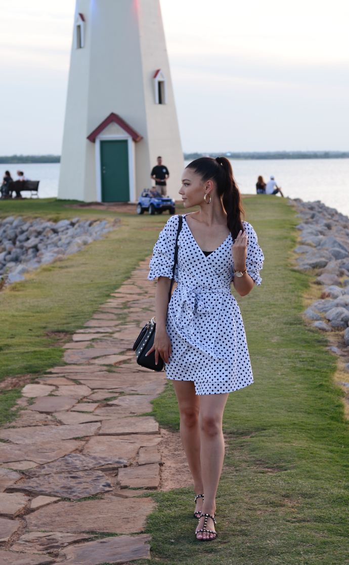 Polka Dot Dress, Lake Hefner, Oklahoma