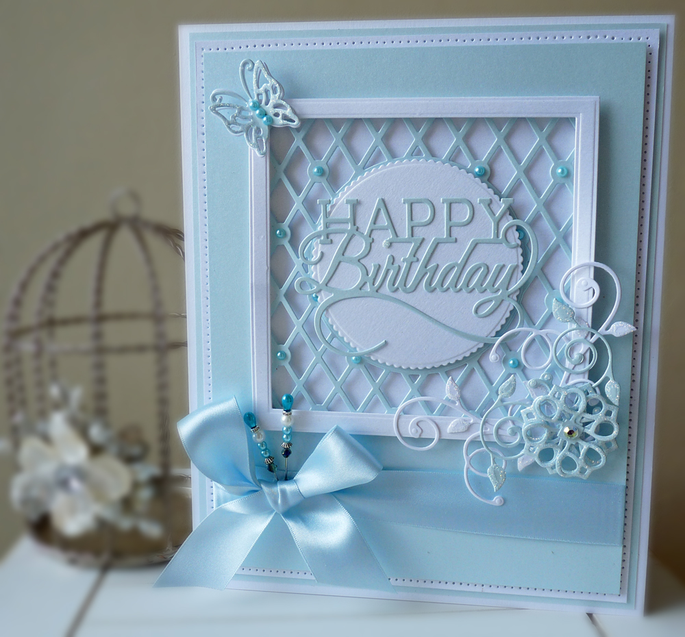 Tonic Studios Framed Lattice Card