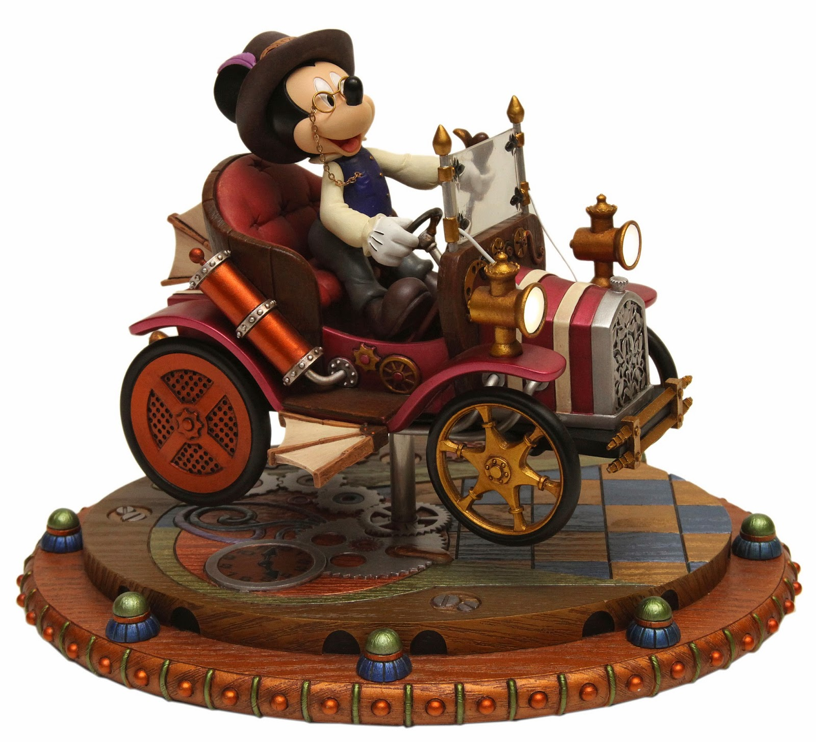 Mickey Mouse Mechanical Kingdom car roadster steampunk figure figurine sculpture gears walt disney world wdw disneyland