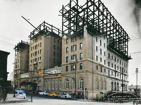 calgary alberta ghosting archival images palliser hotel