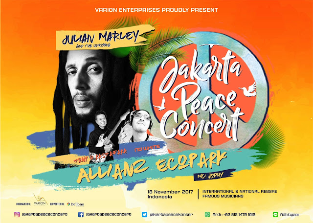 Inilah Harga Tiket Konser Julian Marley, Jakarta Peace Concert