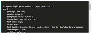 Cara Membuat Syntax Highlighter Tanpa Javascript