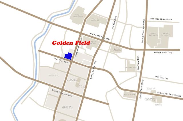 Vị trí Golden Field Mỹ Đình.
