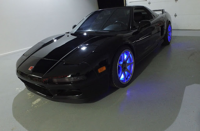 Black Top Racing NSX with wheel lights
