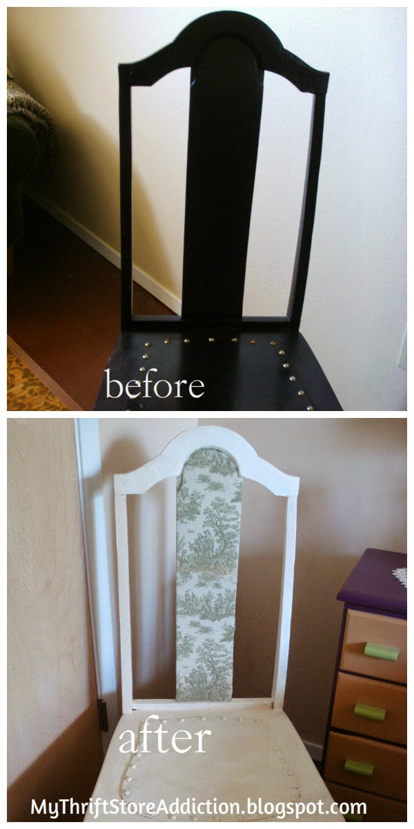 Upcycled chalk painted chair